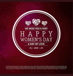 happy womens day typogrpahic design with red vector image