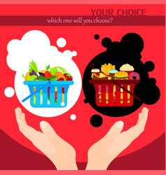 healthy food choice poster template vector image