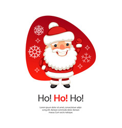 ho christmas card with santa claus vector image