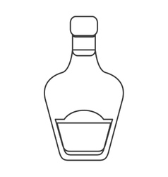 Liquor bottle icon vector