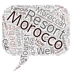 Major Tourist Resorts in Morocco text background vector image