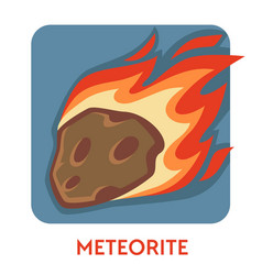 Meteorite cosmic body natural disaster space stone vector