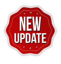 New update label or sticker vector