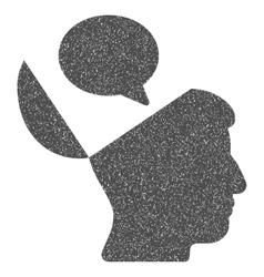 Open Mind Opinion Grainy Texture Icon vector