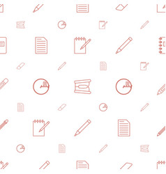 pencil icons pattern seamless white background vector image