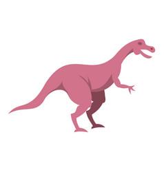 Pink hypsilophodon dinosaur icon isolated vector