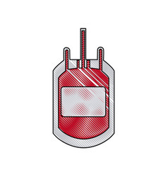plastic bag blood transfusion donation care vector image