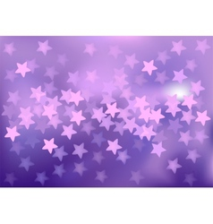 Purple festive lights in star shape background vector image