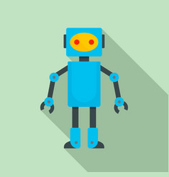 robot toy icon flat style vector image