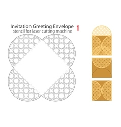 Rounded envelope template for laser cut vector