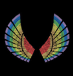 sample wings design vector image