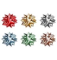 Set of beautiful big bows vector image