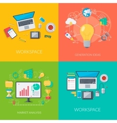 Set of business and technology backgrounds vector image