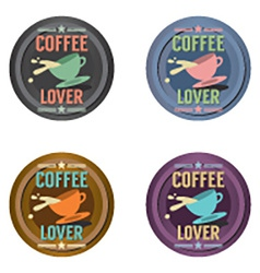 Set Of Coffee Symbol Badge vector