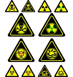 Signs danger vector