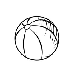 Sketch baby beach ball vector