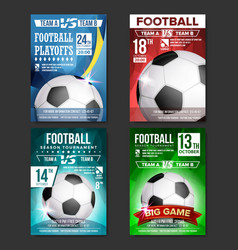 Soccer poster set design for sport bar vector