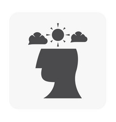 stressed emotion icon vector image