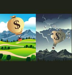 success versus bankruptcy vector image
