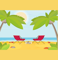 Summer holidays flat design beach vector