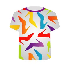 T Shirt Template- Colorful Shoes vector