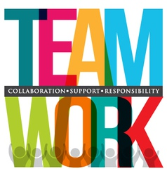 Teamwork typography vector image