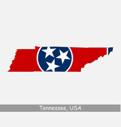 tennessee usa map flag vector image