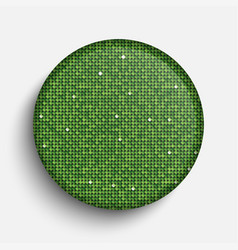 The circle glass banner green sequins background vector