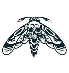 Vintage monochrome wasp concept vector