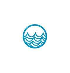water surface logo design template vector image