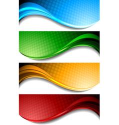 Wavy banners vector