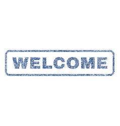 Welcome textile stamp vector