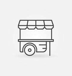 Wheel market stall icon mobile cart vector