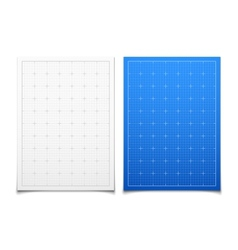 White and blue isolated square grid set with vector image