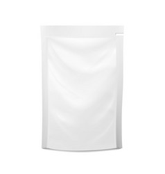 White blank plastic spouted pouch doypack vector