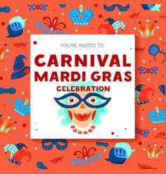 carnival decorative frame background poster vector image