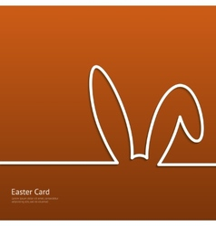 Easter background with silhouette line rabbit vector image vector image