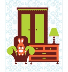 home with bunny vector image vector image