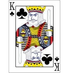 King of clubs original design vector image vector image