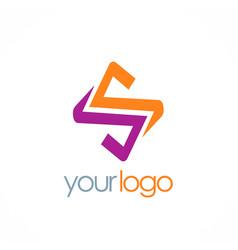 Letter s color logo vector