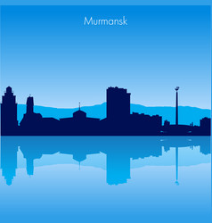 murmansk skyline vector image vector image