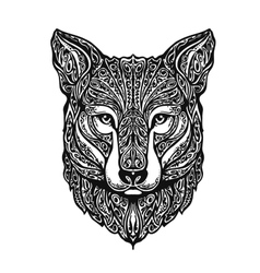 Ethnic ornamented fox or dog vector image vector image