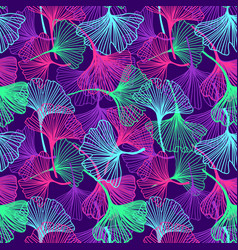 floral tropical background in neon colors vector image vector image