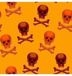 seamless skull and crossbones cartoon vector image vector image