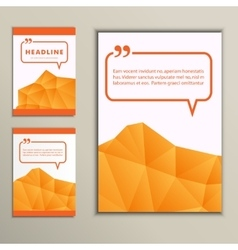 Set abstract triangle on white background vector image vector image
