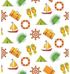 Summer holiday seamless pattern vector image vector image