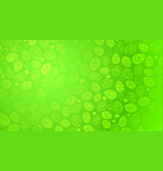 background of easter eggs with curls vector image vector image