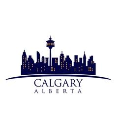 Calgary canada skyline vector