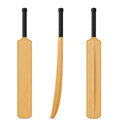 cricket bat 07 vector image