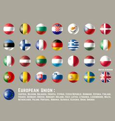 european union round flags vector image